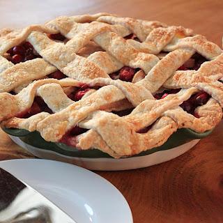 Sour Cherry-Cranberry-Pear Pie