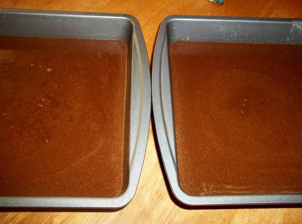 Pour into prepared baking pans.Bake for 30 - 35 minutes or until toothpick inserted...