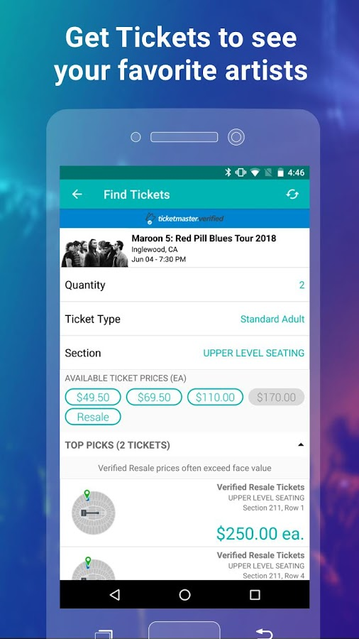 Screenshots of Bandsintown Concerts for iPhone