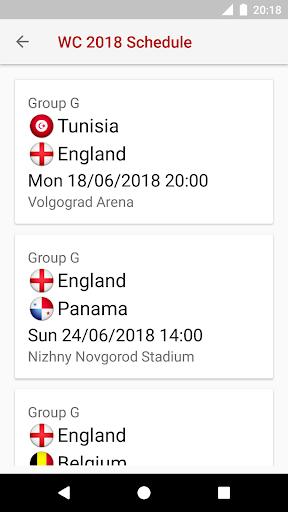 ud83cudfc6World Cup 2018 Schedule 2018.1.17 screenshots 2