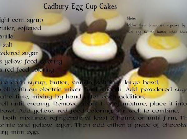 Cadbury Egg Cup Cakes Recipe