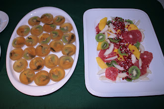 Photo: These two dishes were our original creations. They were very popular at the event. Ingredients include green Puer tea and organic Oolong tea.