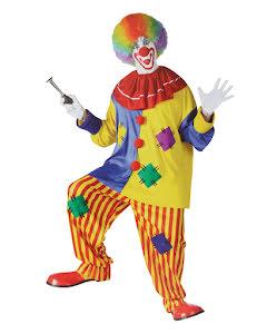 Clowndräkt Happy, vuxen