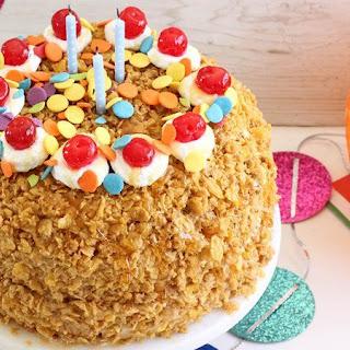Dulce de Leche Fried Ice Cream Cake.