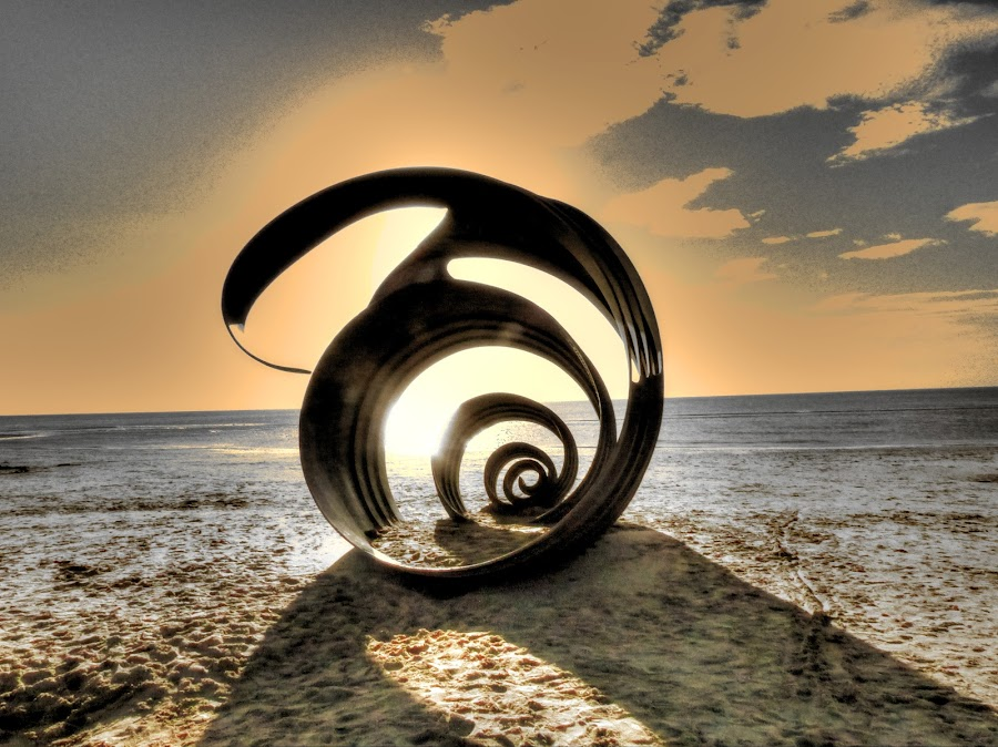 Sea Shell Sculpture by Steve Bampton - Artistic Objects Other Objects ( shell, sculpture, modern art, beach, steel,  )