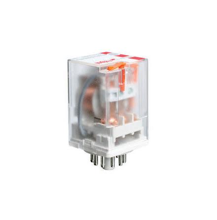 RELÄ 3-POL. 11-PINS 24VDC MED LED OOCH HANDMANÖVER