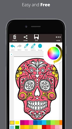 ColorFly | Imágenes de Dark Skull Coloring Book 2