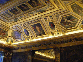 Photo: The ornate room contains some of the remnants of Marie de Medici's private apartments, which were were stripped of their lavish decorating during the Revolution.