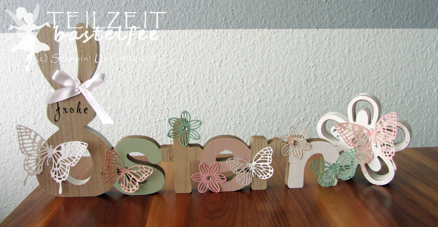 Stampin' Up! - Ostern, Easter, Thinlits Schmetterlinge, Butterflies, Framelits Maiblüten, decoration
