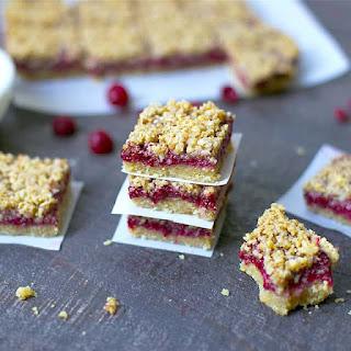 Paleo Raspberry Crumb Bars Recipe