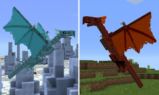 Mod Dragons for MCPE - náhled