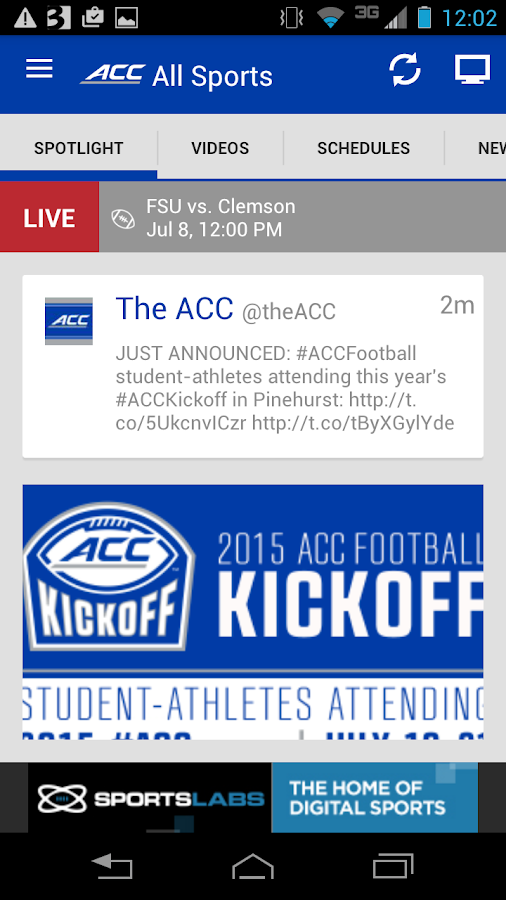 ACC Sports- screenshot