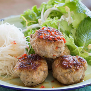 Bun Cha (barbecued Pork Meatballs With Rice Noodles)