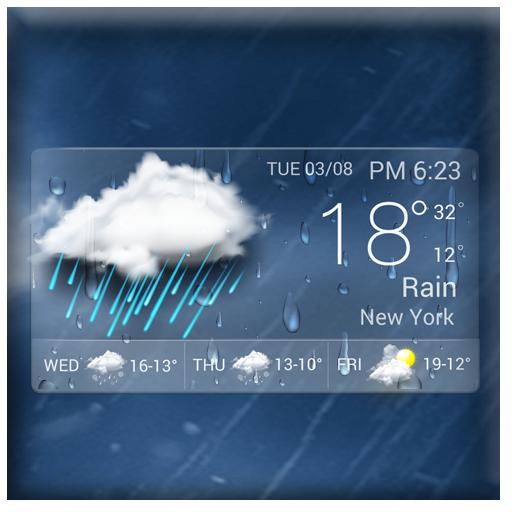 Hot Transparent Weather Widget