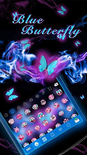Blue Butterfly Kika Keyboard|玩娛樂App免費|玩APPs