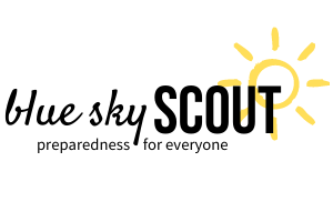 Blue Sky Scout logo preparedness for everyone