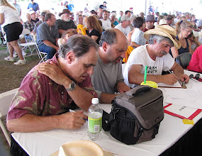 Photo: The Judges: Gene Lowinger, Bob Green, Ambrose Verdibello- Photo by Fred Robbins