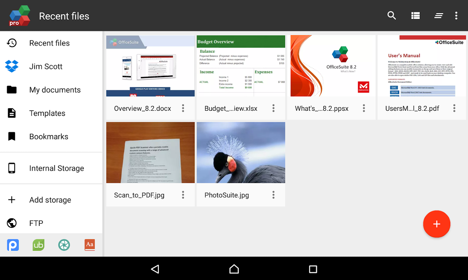 OfficeSuite 8 Pro + PDF - screenshot