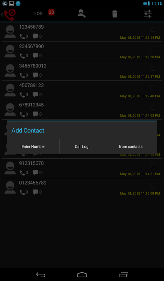 Super Call Blocker- screenshot