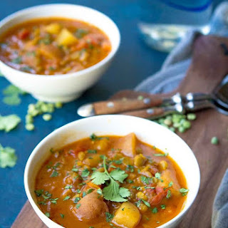 Southwestern Instant Pot Split Pea Soup with Potatoes.