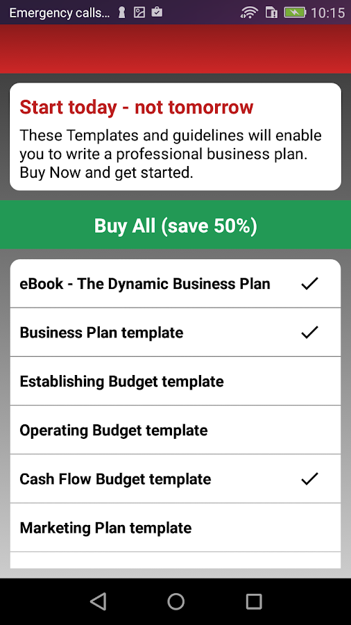 Business Plan Information And Startup Templates Android Apps On - Business plan startup template