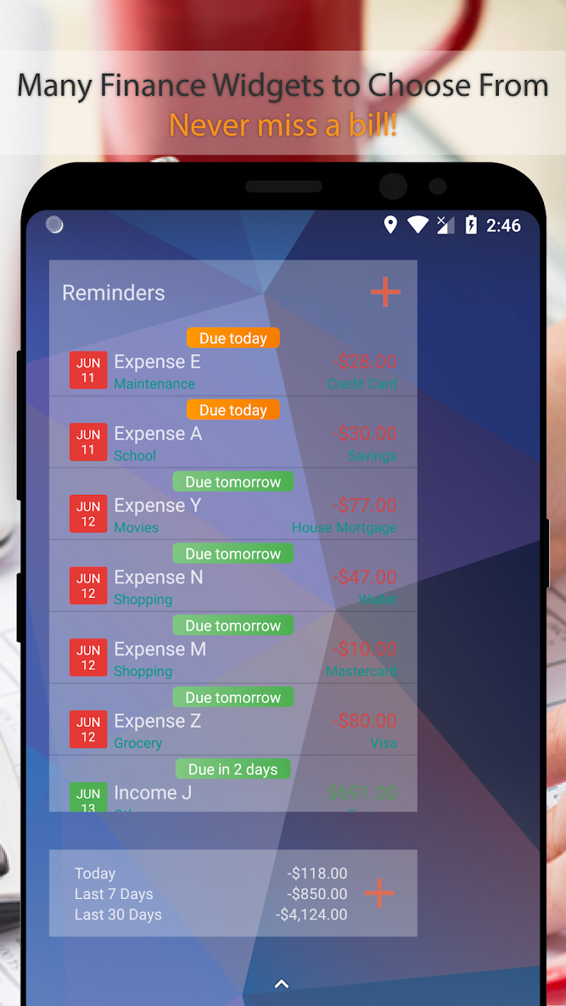 Bluecoins- Finance, Budget, Money, Expense Tracker Screenshot 2