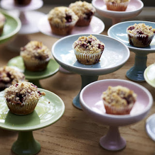 Mini Cupcakes with Berries and Sprinkles