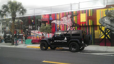 Photo: Spotted in the Wynwood Arts District: The Paramount Bay Jeep showing up in style to Gallery Night!