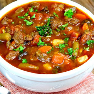Vegetable Beef Soup.