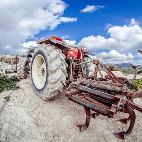 Tractor by Emanuele Foti - Transportation Other ( palazzolo, trattore, campagna, campaign, tractor )