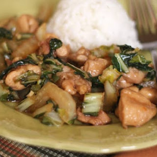 Chicken and Bok Choy Stir Fry.