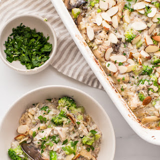 Whole30 Casserole with Chicken, Broccoli, Rice, and Mushrooms (Paleo) Recipe