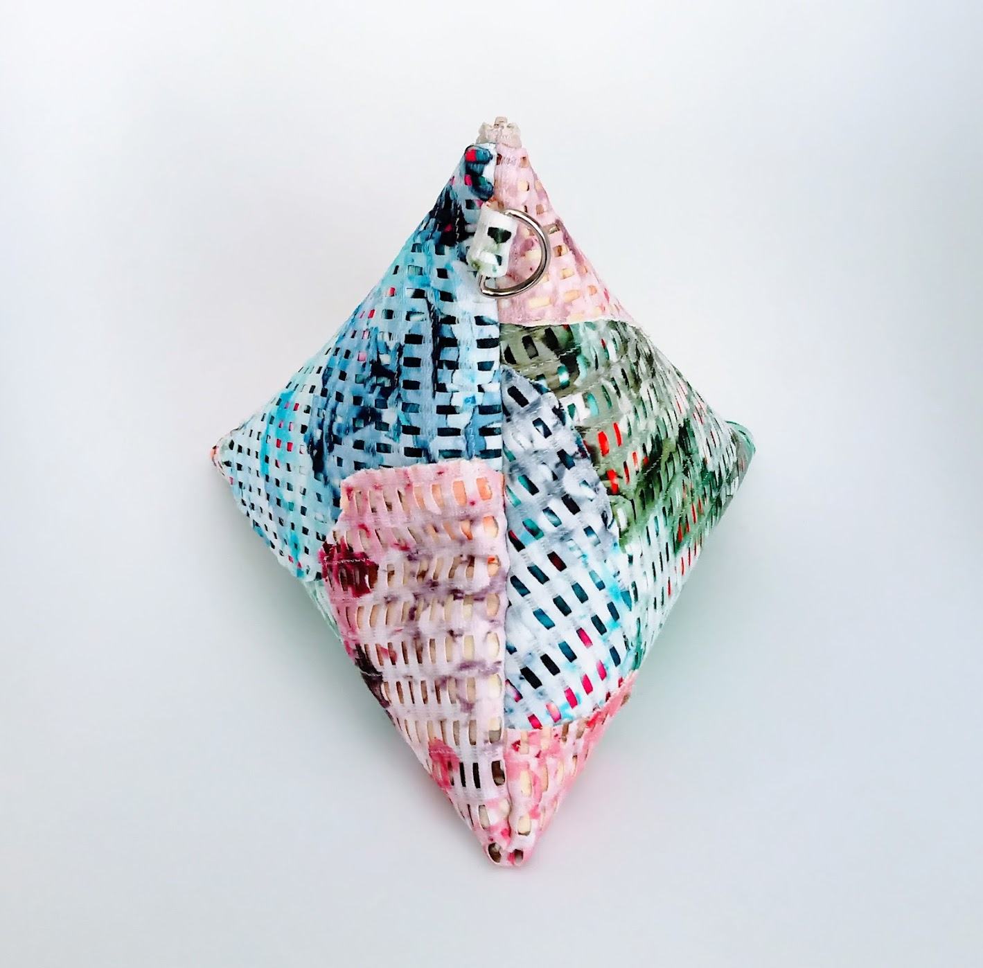 Result: DIY Fabric Collage Tetrahedron Bag - DIY Fashion Accessories | fafafoom.com