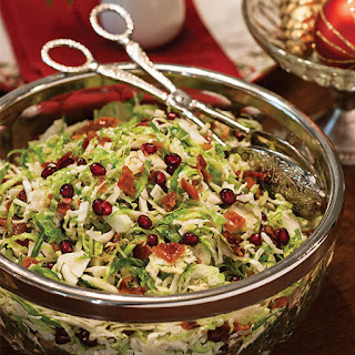 Brussels Sprouts Salad with Warm Bacon Vinaigrette.