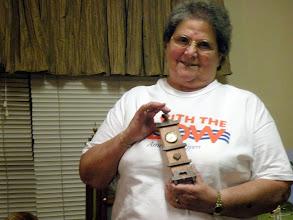 Photo: ruth and her tiny grandpa clock