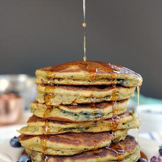 Paleo Blueberry Pancakes (GF, Dairy-Free + Refined Sugar-Free).