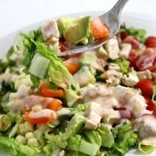 Southwest Chicken Salad with Skinny Salsa Ranch.