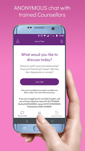 PinkyMind - Online counselling & therapy chat app App Report on