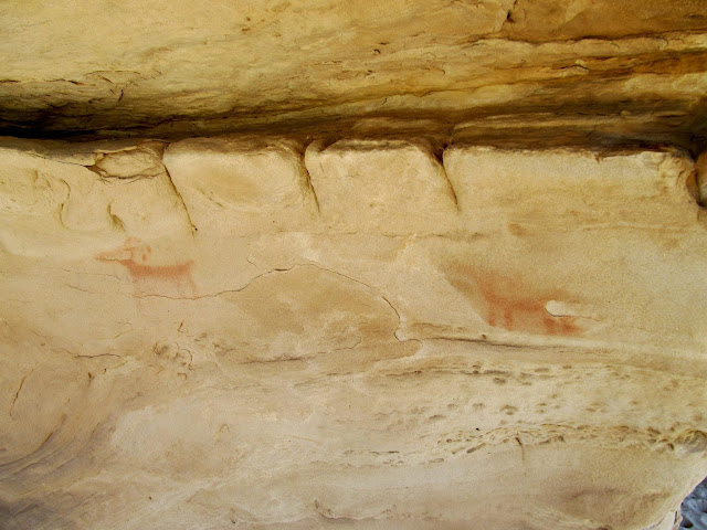 Bighorn sheep pictographs