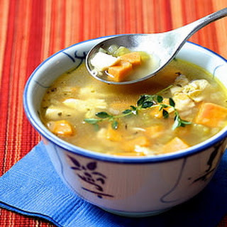 Sweet Potato & Chicken Soup