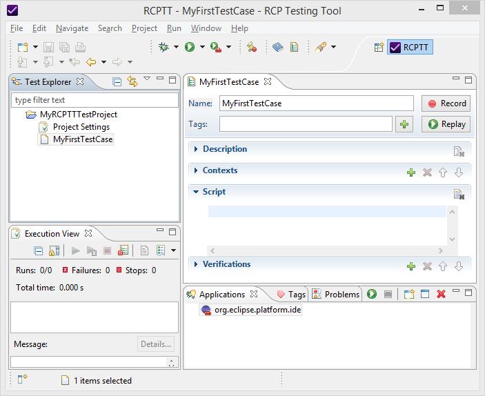 RCP Testing Tool (RCPTT)