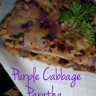 Healthy Purple Cabbage Paratha Recipe