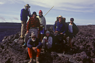 Photo: Now it's 1991, and we've summited! (Why is everyone grinning?)