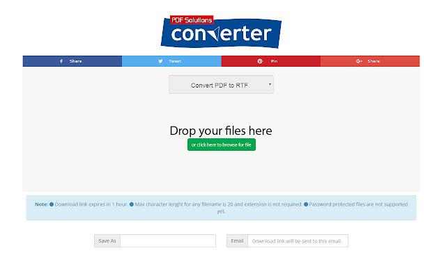 PDF to RTF Converter