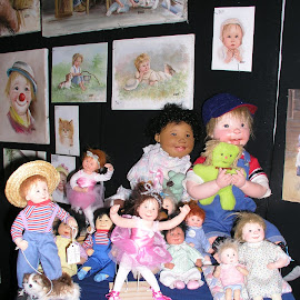 Diane's Gang by Rita Goebert - Artistic Objects Other Objects ( collector dolls; diane dengel;,  )