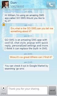 App GO SMS Pro Iceblue theme APK for Windows Phone