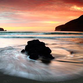 Le Bons Bay Sunrise by Greg Van Dugteren - Landscapes Sunsets & Sunrises