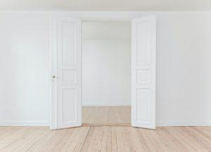An empty room with white walls.
