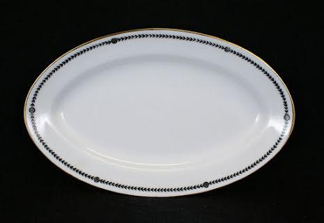 bård svart Uppläggningsfat 22,5 cm