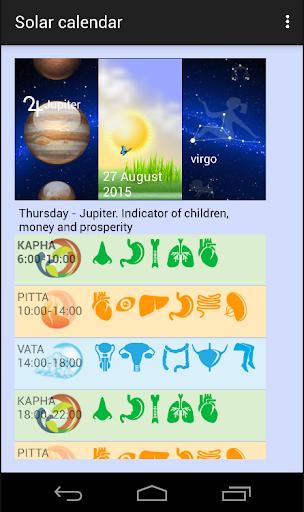 Solar calendar day mode